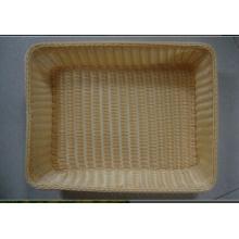 Cesta de mimbre de plástico; Cesta de almacenaje; Cesta de pan; Cesta de comida