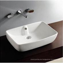 Über Top Counter Schale Keramik Hand Wash Basin ein Loch