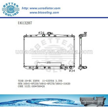 Aluminum Radiator For TOYOTA RX/SIENNA 16041-0P220/16041-0P270/16041-31620 Manufacturer and Direct Sale