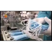 Máquina para fazer máscaras faciais descartáveis cirúrgicas 3Ply