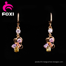 Fascinating Brass Gold Plated Hanging Earrings