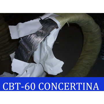 Cbt60 Concertina Razor Barbed Wire / Razor Barbed Wire