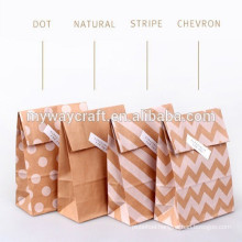 Wholesale party paper bag gift reusable paper bag for flour packaging