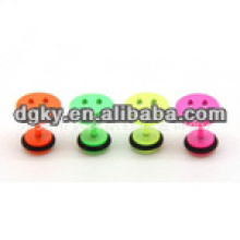 Smile face enamelled stainless steel ear piercing jewelry