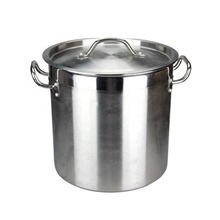 India Style Good Polishing Stainless Steel Large 98L Stocked Cookware Soup Pot/Hot Pot