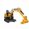 Mini excavator toy towable backhoe thumb