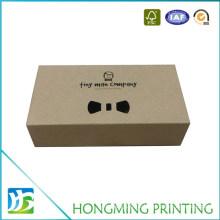 Logo Print Kraft Paper Custom Bow Tie Box