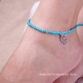 Ladies Beads Anklet Foot Ankle Chain Hamsa Charm Bracelet
