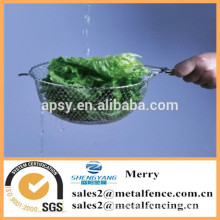 round stainless steel mini deep frying basket with long handle