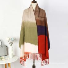 Wholesale New Fashion Color Matching Print Shawl Winter Stylish Women Cashmere Long Wraps Scarf