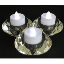 Crystal Tealight avec trois affiches pour la décoration intérieure