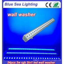 24x3w rgb 3in1 IP65 наружный свет настенного светильника