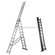 5m foldable aluminium extension ladder combination 3*7 3*9 3*11