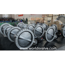 CF3m Double Flange Butterfly Valve