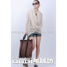 Ladies' knitted hollow-out cashmere shawl