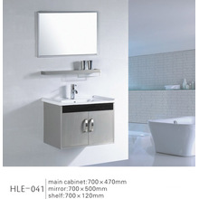 Modern Design Mirrored Stainless Steel Wall Bathroom Cabinet