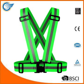 Chaleco de seguridad reflectante de alta visibilidad para ciclistas