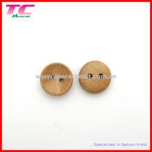Bouton en bois de 13 mm 2 trous