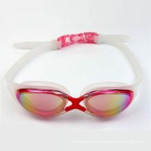 Los vidrios de natación coloridos de la goma de silicona de la moda con RoHS certifican
