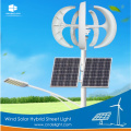Wind Solar Parking Lote Postes de luz LED