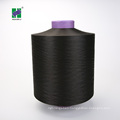 Polyester Yarn DTY 150D/288F , semi dull, dope dyed black Microfiber yarn