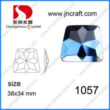 Bunte unregelmäßige handgefertigte Glas Stein für Kleidung und Schuhe