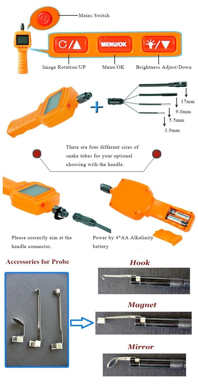 China Shenzhen rifle barrel inspection borescope engine inspection borescope