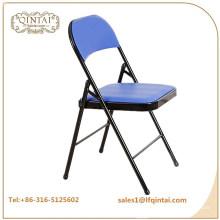 Gros pas cher fer coussin en métal chaise pliante