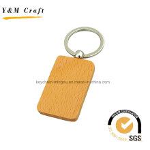 Fabrik Heißer Verkauf Quadratische Form Holz Schlüsselanhänger (Y03919)