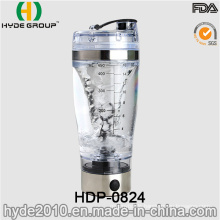 Rechargeable USB 450ml Plastic Vortex Shaker Bottle, BPA Free Plastic Electric Protein Bottle (HDP-0824)