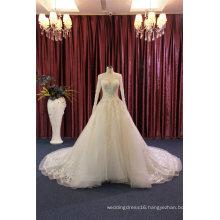 Long Sleeve Beading Ball Bridal Wedding Dress