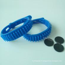 Bracelets de poignet en silicone RFID imperméables pour la plage