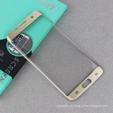 Icheckey Marca al por mayor protector de pantalla de cristal templado color de seda original para Samsung s7 edge