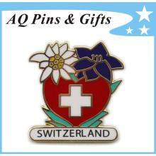 Cruz Roja de Metal Cloisonne suave insignia de oro (insignia-147)