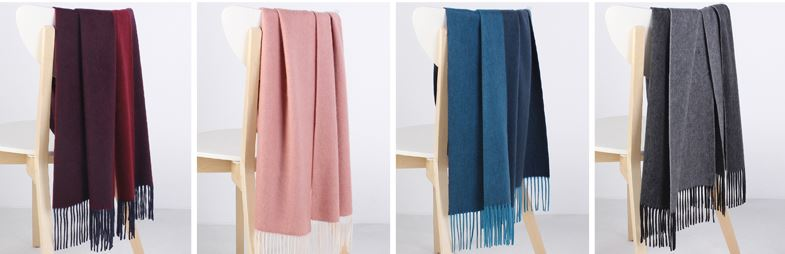 50% Wool 50% Cashmere Woven Throw -6