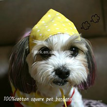Lingshang 2015 Customized Logo Printed Cheap Wholesale square dog cotton Bandanas pet