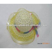 Chapéu de vestido de festa de bebê por atacado com renda ao redor