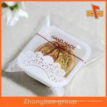 Saco de plástico transparente à prova de gorduras para embalagem Mooncake / Baked Goods