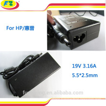 external battery charger for hp laptop 19v3.16a 60W 5.5*2.5mm made in china