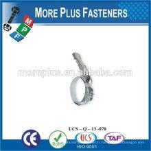Fabriqué à Taiwan en acier inoxydable, des types forts de serre-câbles, de petits colliers de serrage, des brides de serrage rapide