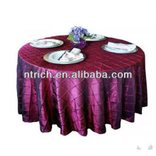 Chameleon pintuck tablecloth, banquet table cover,table linen/wedding table cloth