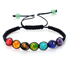 Chakra genuina ajustable pulseras al por mayor
