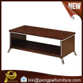 Cheap hot sale wood office coffee tea table