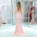 Дамы Рукавов Вышивкой Розовый Цвет Макси Длинное Вечернее Платье 2017