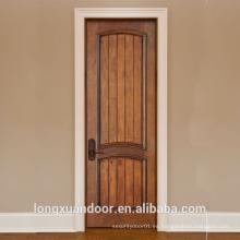 Puerta de madera sólida de madera sólida, cuadros de madera de la puerta, diseño sólido de la habitación de la puerta de madera