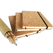Hot Stamping Real Cork Leather for Notebook Binding