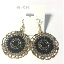 Vintage Lace Pierced Earrings with Metal