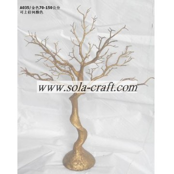 2014 Newly Design Artificial Plastic Gold Wedding Tree  Wholesale From China