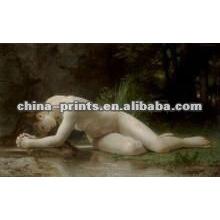 Impresión desnuda atractiva del arte de la muchacha