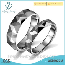 Best quality jewelry custom silver tungsten couple wedding ring